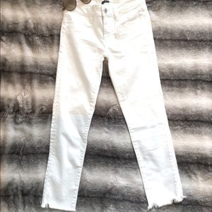 American Eagle white Denim Crop Jeans